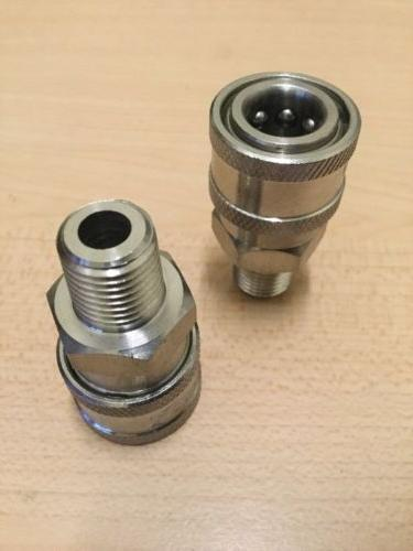 "2- Power Fitting 1/4"" Male Stainless Quick"