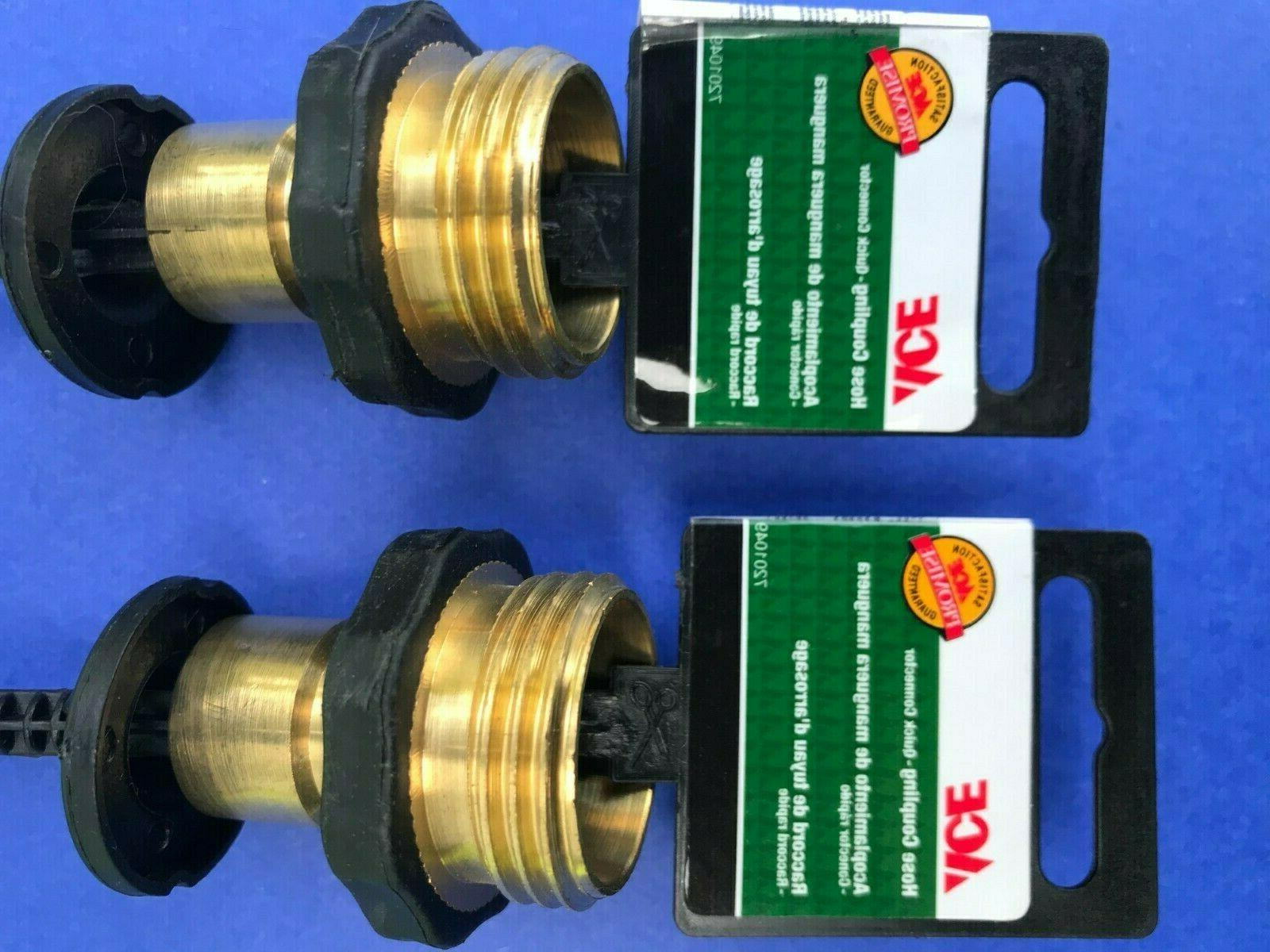 2 Brass Quick-Connect Male With Hose Male