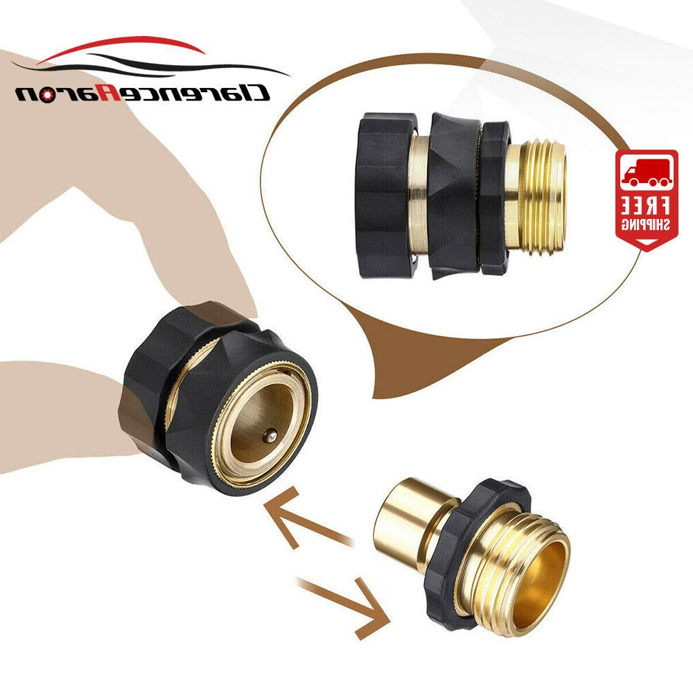 2 Pairs Universal Hose Quick Brass Hose Tap Connector