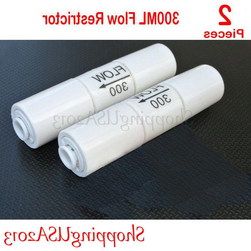 2 Pcs 300 ML Flow Restrictor Push In Quick Connect Unter Sin