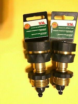 2 set solid brass garden hose quick