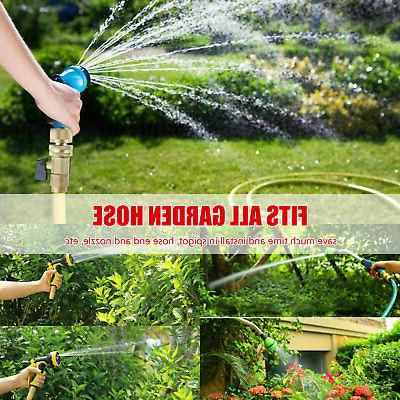 3/4' Garden Hose Quick Brass Female Set
