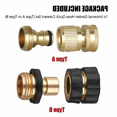 3/4' Garden Brass Female Male Set