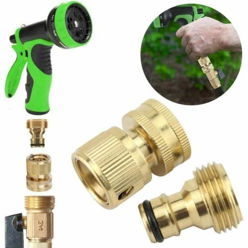 4 Hose Connect Hose Fit Brass Female Male Connector