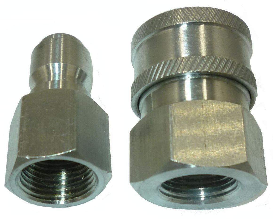 """3/8"""" 5000 PSI Stainless Steel Quick Connect Fittings Plug&So"""