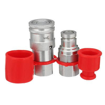 "3/8"" Flat Face Hydraulic Quick Connect Coupler / Coupling Se"