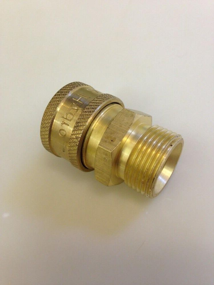 MTM Hydro - 24.0447 - COUPLER BRASS 3/8 Quick Connect  X M22