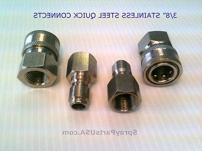 3 8 stainless steel quick connect fittings