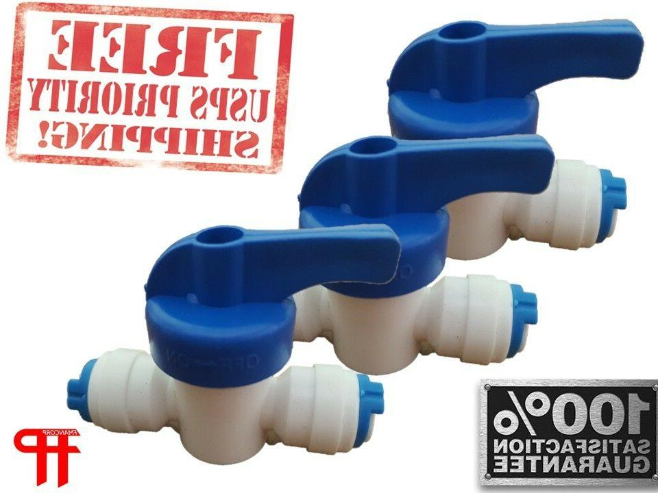 Quick Connect 1//4 to 1//4 Male Ro Reverse Osmosis water Filter Fitting Male Elbow Pack of 5 JiuWu