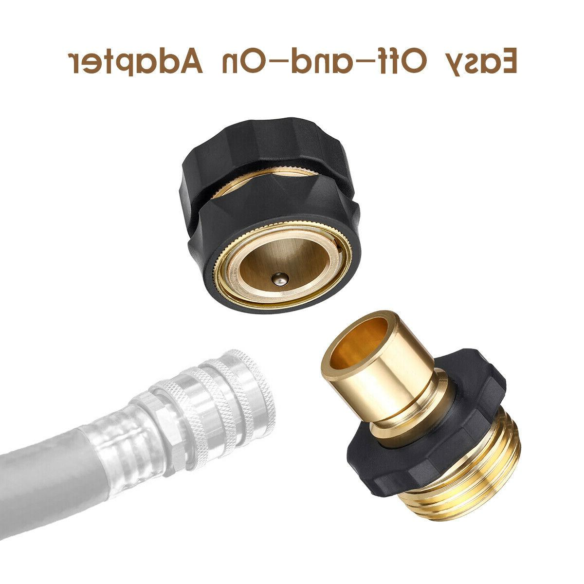 4 Pairs Quick Fit Brass Male Connector Set