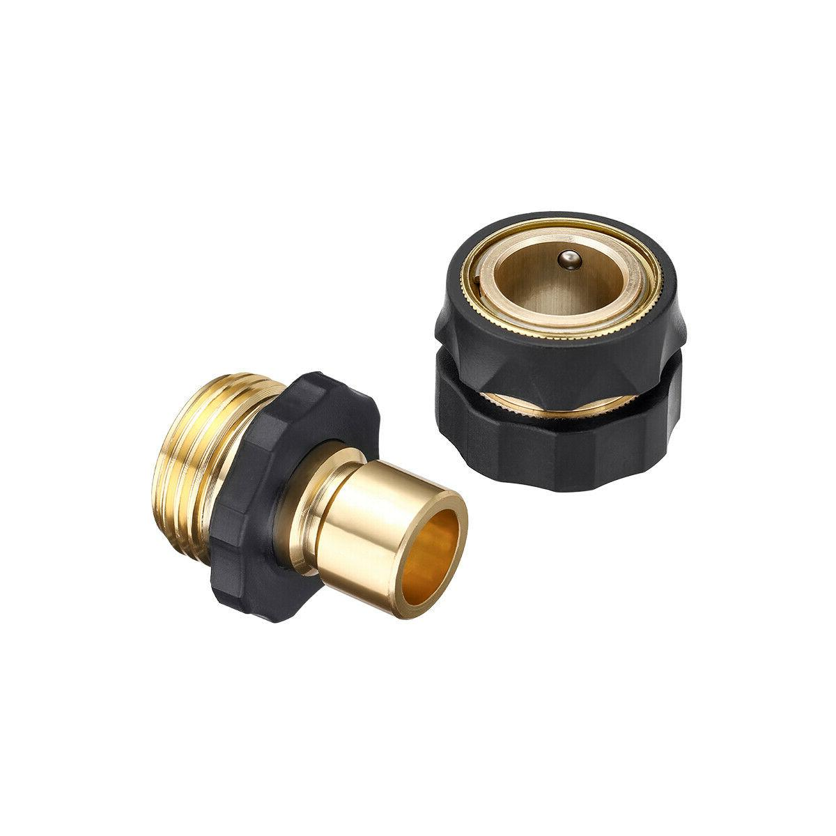 4 Garden Quick Connect Water Hose Fit Brass Connector Set