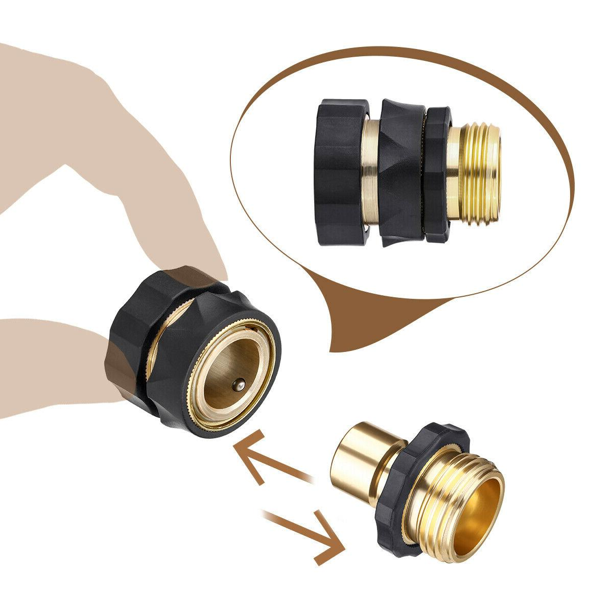 4 Garden Quick Connect Fit Brass Female Male Connector