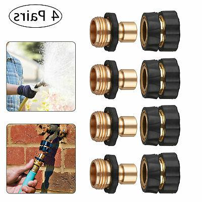 4 pairs garden water hose tap quick