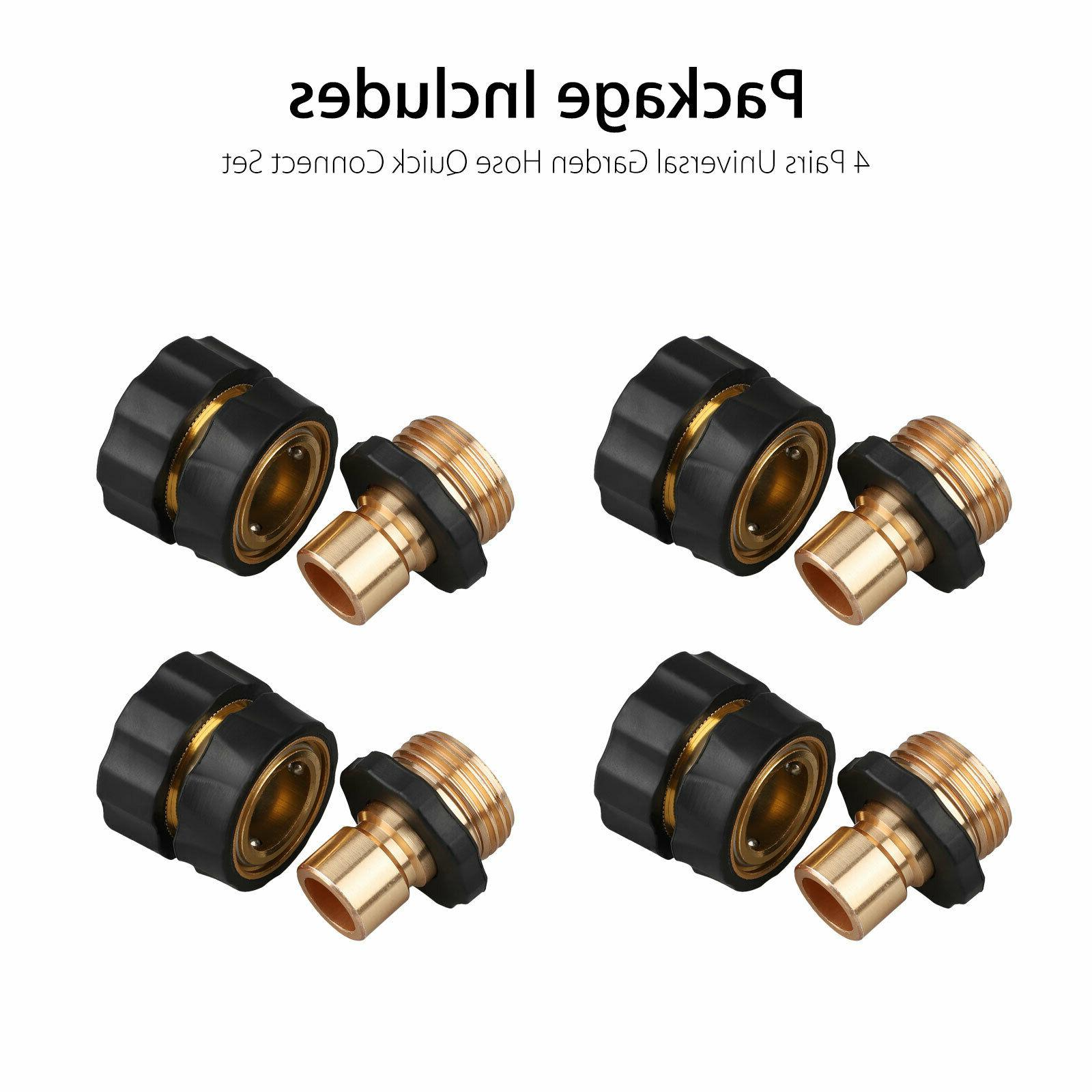 4 Hose Tap Quick Connect Set Pressure Washer Brass Connectors