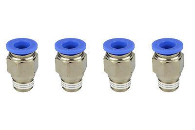 """4x TEMCo Pneumatic Air Quick Push to Connect Fitting 1/4"""" NP"""