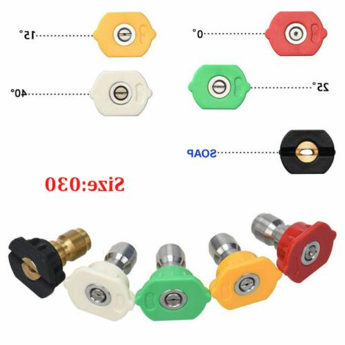 5 Washer Spray Tip Set Degrees Connect