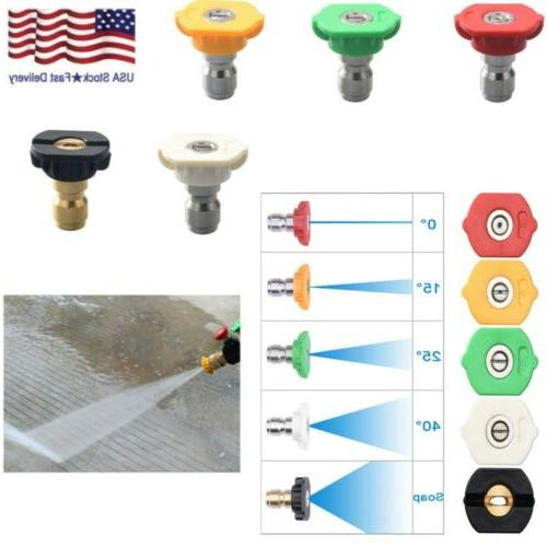 5 pack power pressure washer spray nozzle