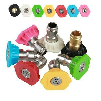 1pc/7pcs Quick Connect High Pressure Spray Nozzle Washer Wat