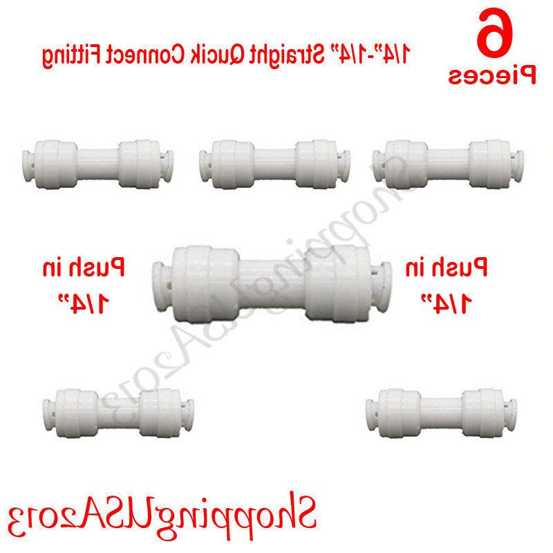 6 Pc Connect Straight Connector Push In Water Filter