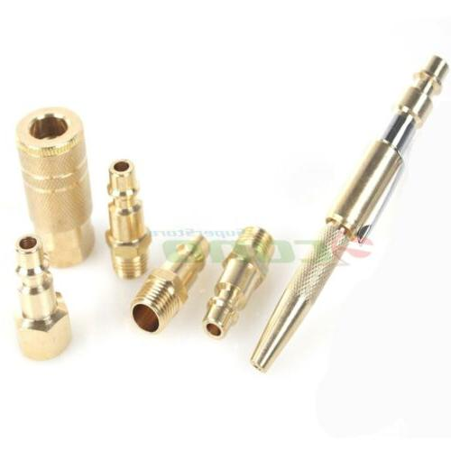 6pc solid brass air quick connect coupler