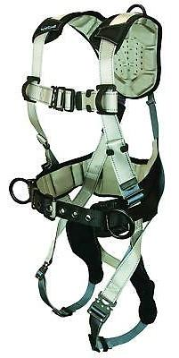 FallTech 7089XL Full Body Harness, 3D-Rings, Quick Connect L