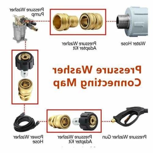 """8 Washer Adapter Garden Connect 3/8"""""""
