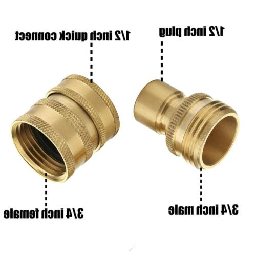 """8 PCS Pressure Adapter Garden Hose Quick Connect Fittings 3/8"""" Kit"""