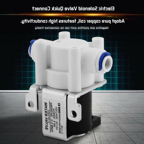 DC12V Water Electric Solenoid Magnetic Purifier Valve Connec