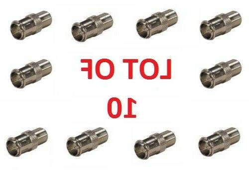 Coax F Connector Push-On Adapter Quick Connect 10 Pack F Typ