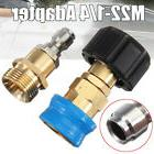 "M22 To 1/4"" Quick Connect Pressure Washer Fitting Adapter Fo"