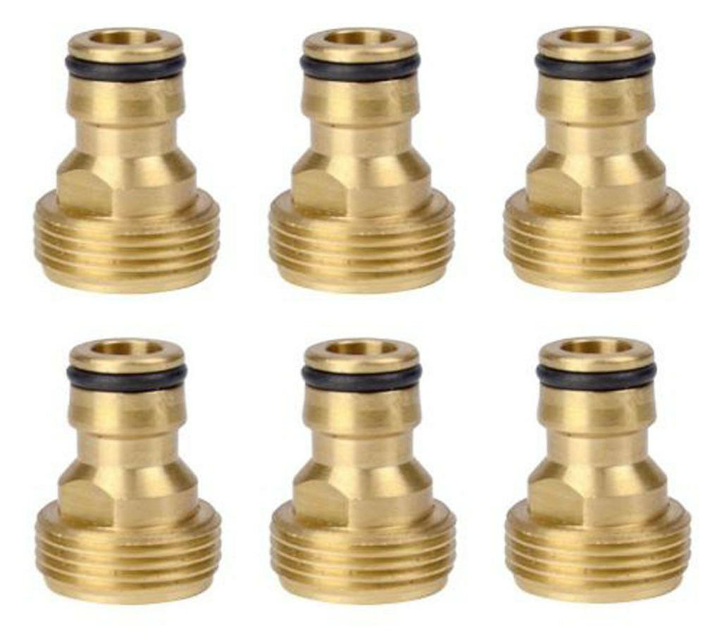 Pack of 6, Brass Male Thread Faucet Nozzle O-Rings