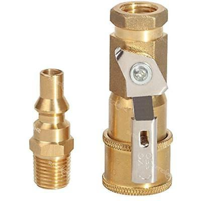 Propane Quick Disconnect Fittings, 1/4 RV Connect Adapter, L