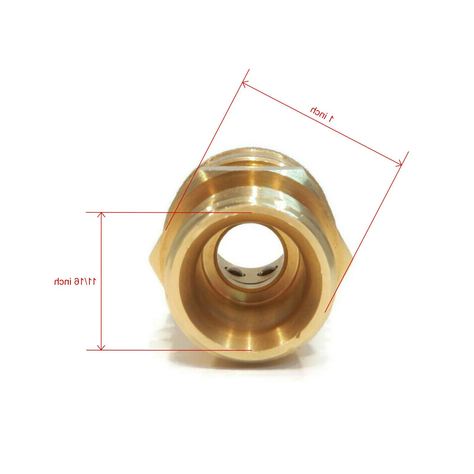 Quick-Connect, Threaded, Brass M22 x 3/8