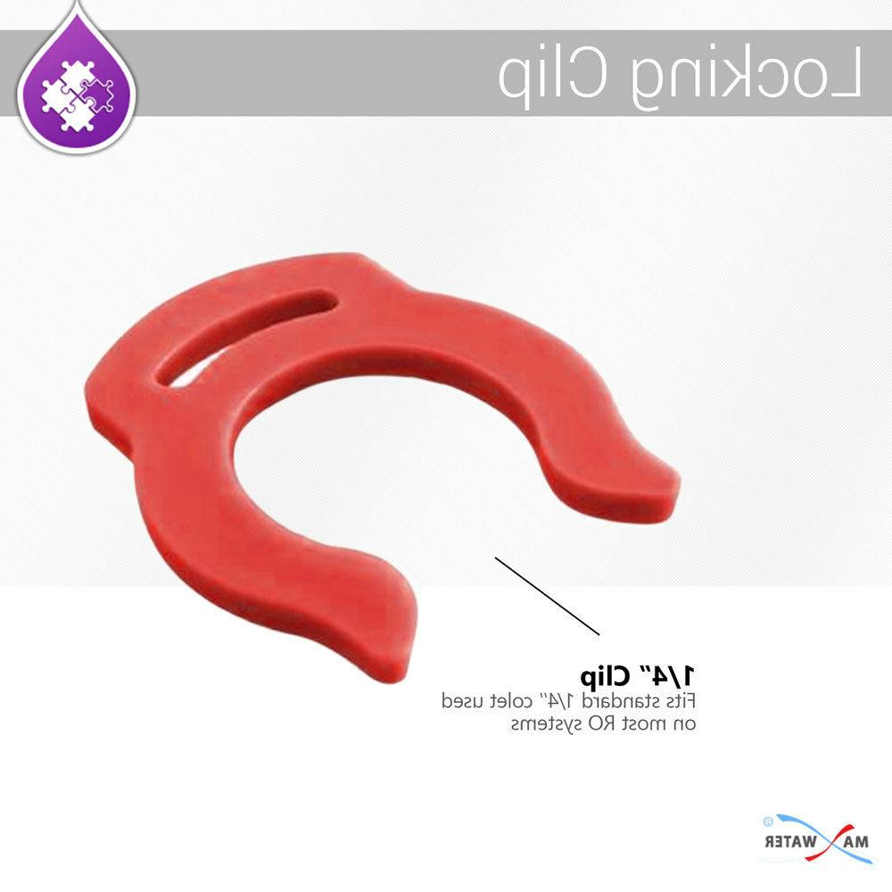 """Red Locking Clip Quick Connect Fittings 1/4"""" Parts Water 15 PK"""