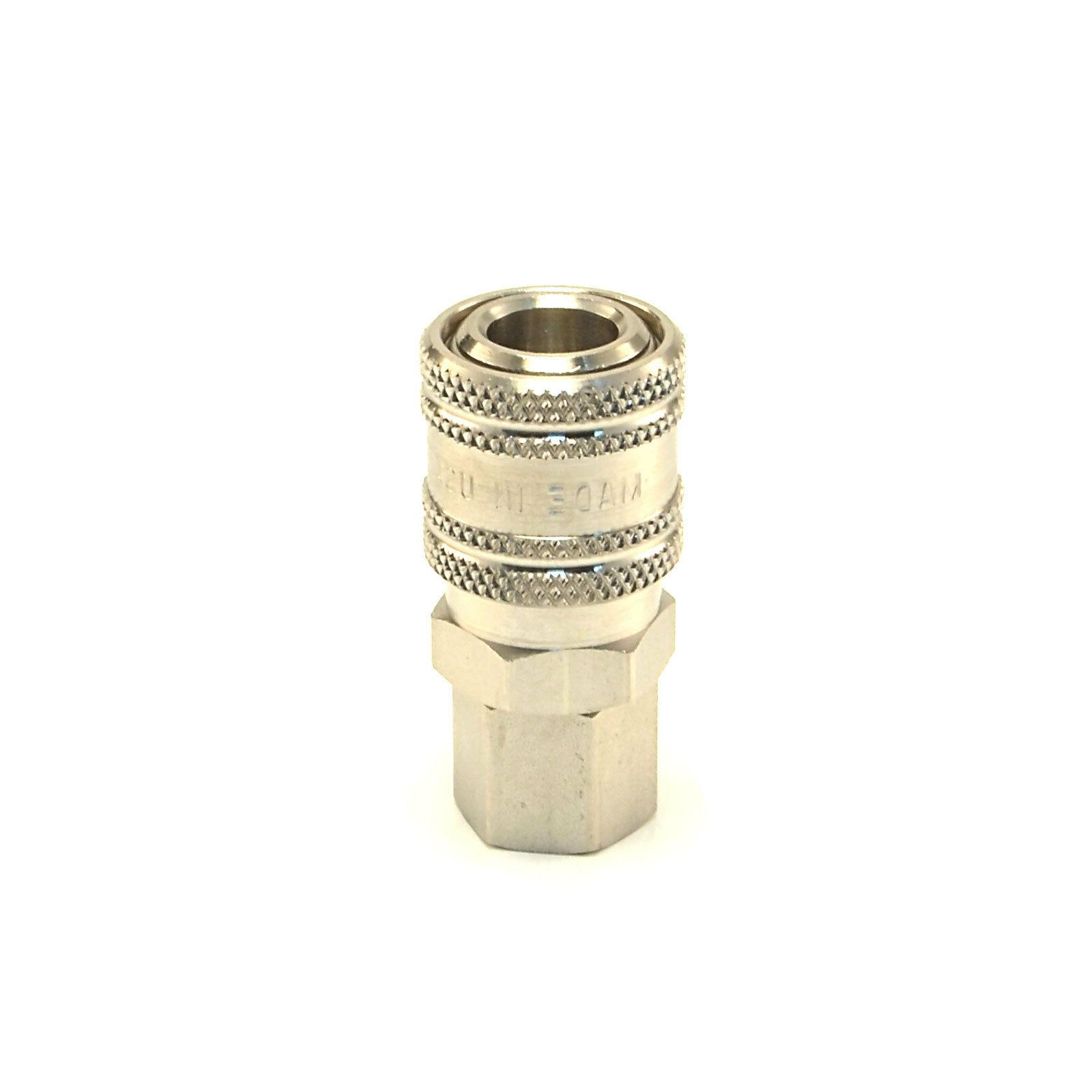 "STAINLESS STEEL Quick Connect Coupler 1/4"" Female NPT Air Ho"