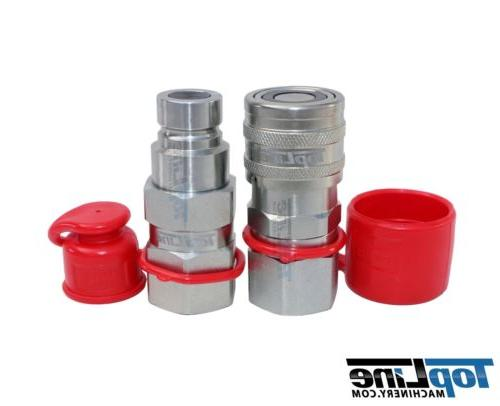 "TL19 3/8"" NPT 1/2"" Flat Face Quick Connect Hydraulic Coupler"