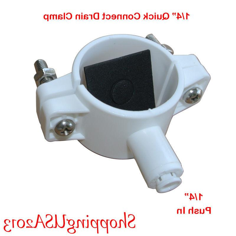 """Drain Clamp 1/4"""" Quick Connect Water Filter RO System Auto S"""