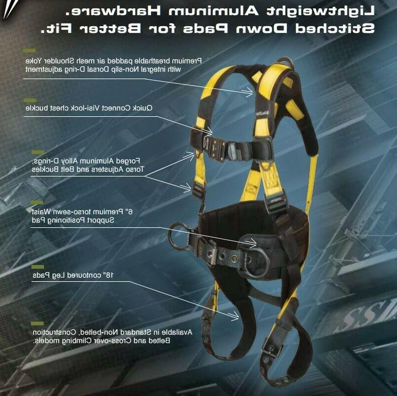 Falltech Harness Large Lightweight Quick Connect Hardware