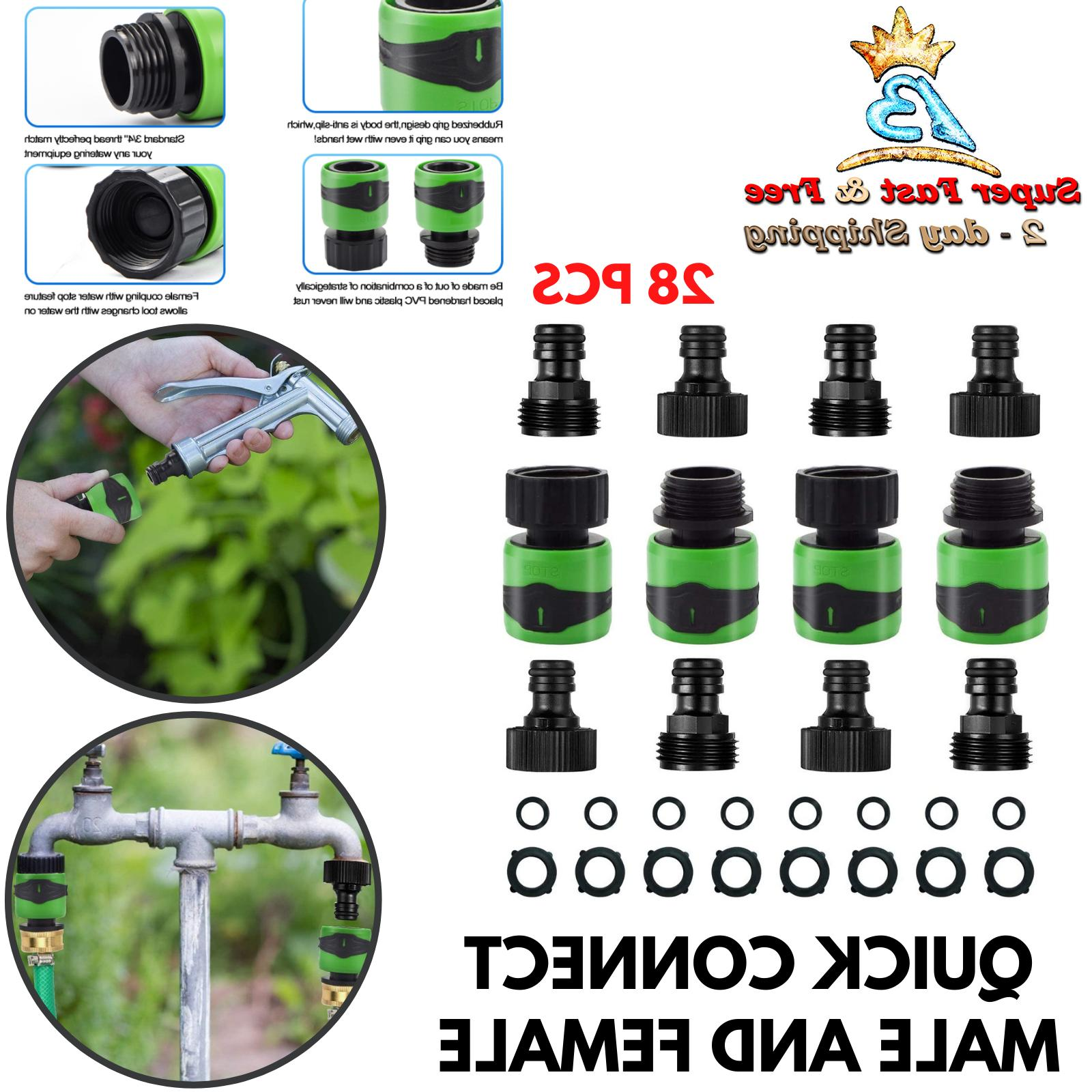Garden Hose Quick Connect Connectors Fitting With Water Stop