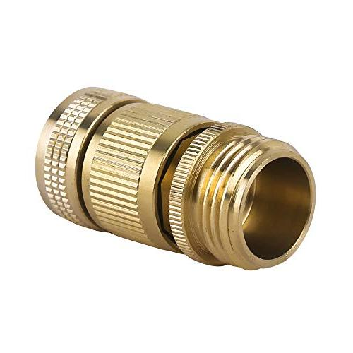 HQMPC Garden Hose Quick Connect Solid Connector Garden Hose Water inch