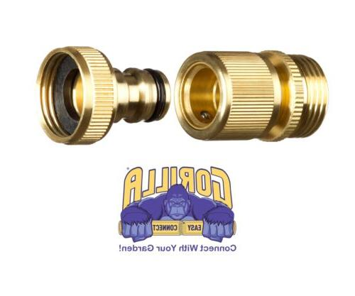 garden hose quick connector 34 inch ght