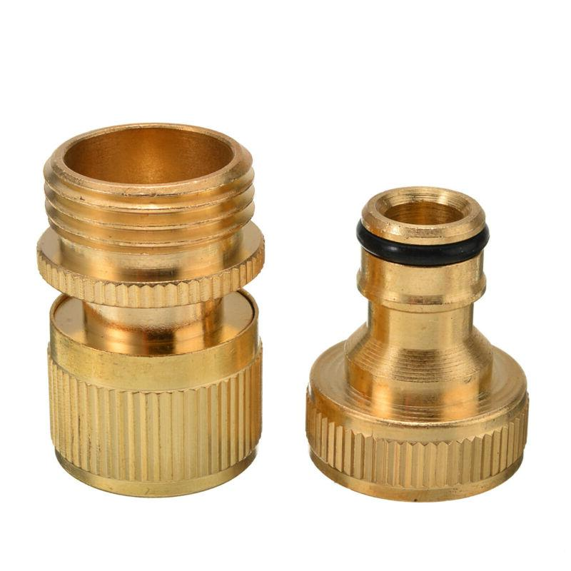 """Garden Connector for 3/4"""" Brass Easy Fitting US"""