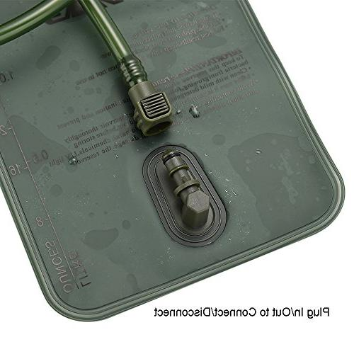 Hydration bladder , 2 bag, TPU and Large Quick Release Tube and shutoff