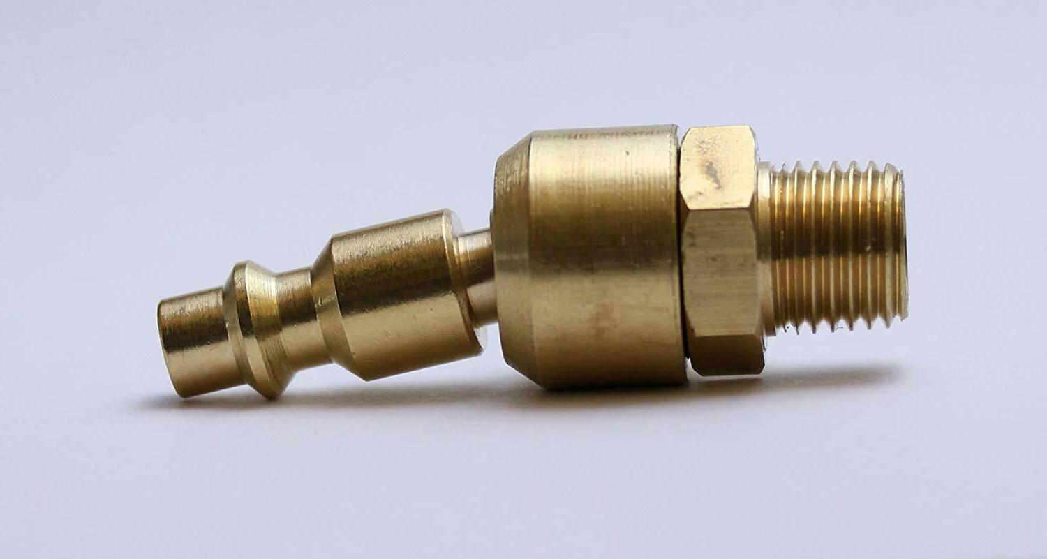 Industrial Ball Swivel 1/4 In. NPT Male Quick Air Brass
