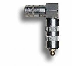 Lube-Link low profile right angle coupler, quick connect Leg