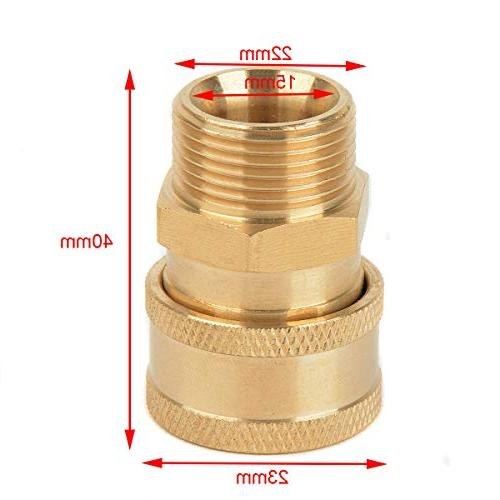 """1pc 3/8"""" Washer Quick Release Connector Connect Metric Male Thread for Pressure"""