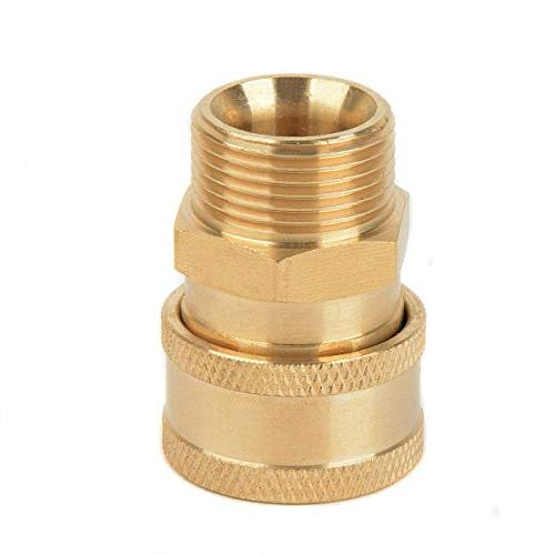 1pc Mayitr Copper Washer Quick Connector Connect to M22 Metric for Pressure Washer