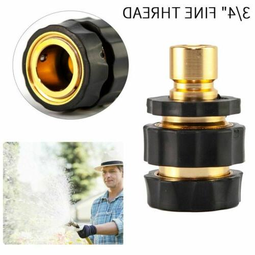 3/4' Hose Quick Connect Water Brass Male Connector Set