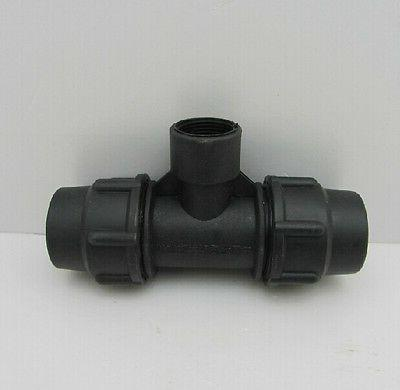 "PE Quick Connect Union Tee 3/4""*32*32mm Connector Adapter  P"