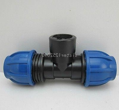 "PP Quick Connect Union Tee 1/2""*20*20mm Connector Adapter  P"